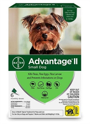 Advantage II for Dogs 3-10 lbs, 6 Month Supply