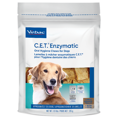 C.E.T. Enzymatic Chews for Dogs (Large) (30 Ct.)