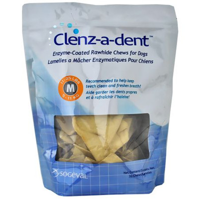 Clenz-A-Dent Rawhide Chews for Medium Dogs