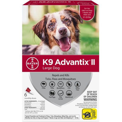 Advantix II for Dogs 21-55 lbs, 6 Month Supply