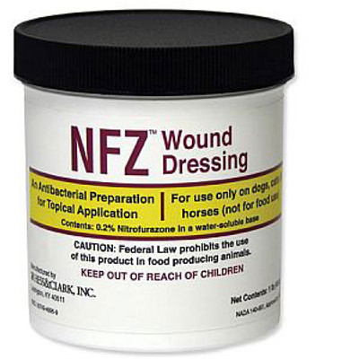 Nitrofurazone Ointment for Dogs, Cats & Horses (1 lb)