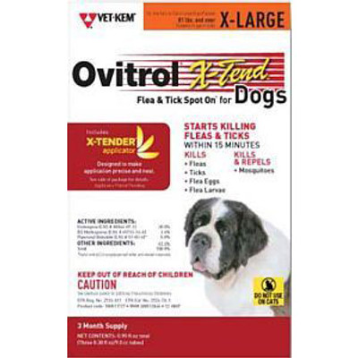 Ovitrol X-Tend Spot On for Dogs (3 dose card, 81+ lbs)