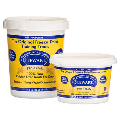 Stewart Pro-Treat Freeze Dried Chicken Liver (11.5 oz. tub)