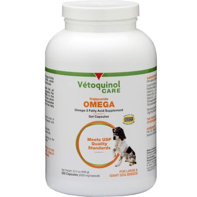 Tri-Omega Capsules for Large Dogs (Over 60 lbs, 250 count)