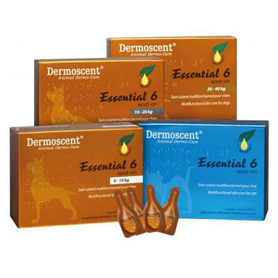Dermoscent Essential 6 Spot-On for Dogs (22 - 45 lbs, 4 pack)