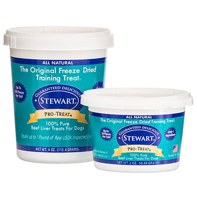 Stewart Pro-Treat Freeze Dried Beef Liver (4 oz. tub)