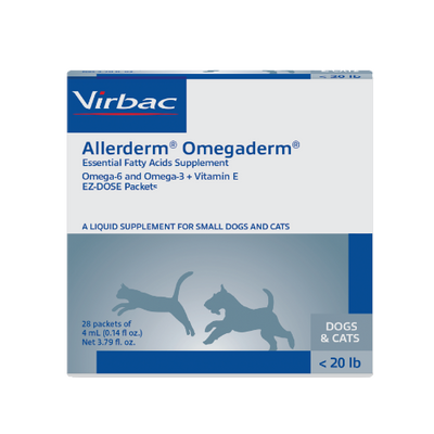 Allerderm Omegaderm for Small Dogs & Cats (under 20 lbs)