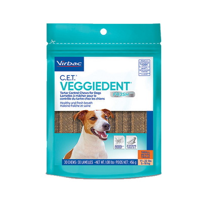 C.E.T. Veggiedent Fr3sh Chews for Dogs (Small)