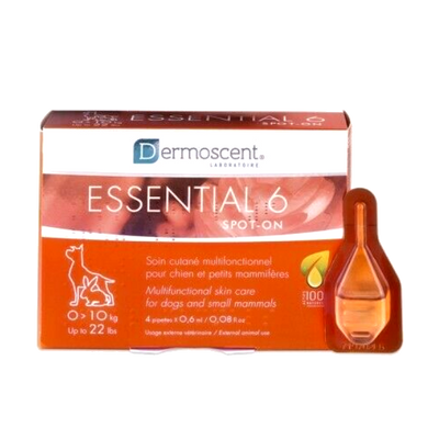 Dermoscent Essential 6 Spot-On for Dogs (4 pack, up to 22 lbs)