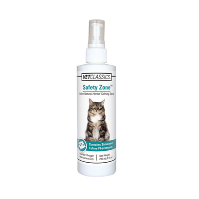 Safety Zone Feline Natural Herbal Calming Spray for Cats