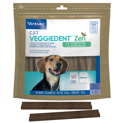 C.E.T. VeggieDent Zen Tartar Control Chews for Dogs (30 ct.)