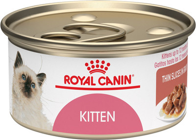 Royal Canin Feline Kitten Canned Cat Food Loaf in Sauce (3 oz Cans)