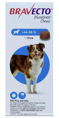Bravecto Chews for Dogs 44 to 88 lbs