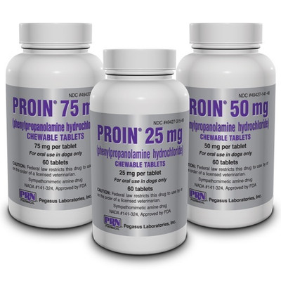 Proin Chewable Tablets for Dogs (25 mg, 50 mg & 75 mg)