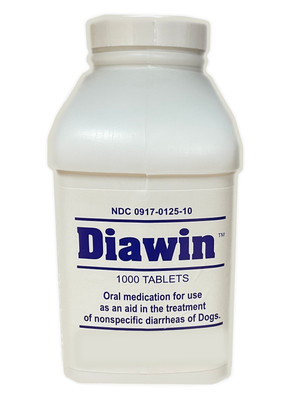 Diawin Anti-Diarrheal Tablets for Dogs (1000 Tablets)