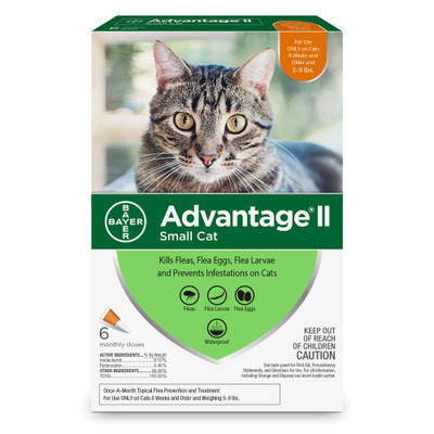 Advantage II for Cats 5-9 lbs, 6 month supply
