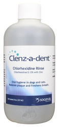 Clenz-A-Dent Chlorhexidine Dental Rinse for Dogs and Cats