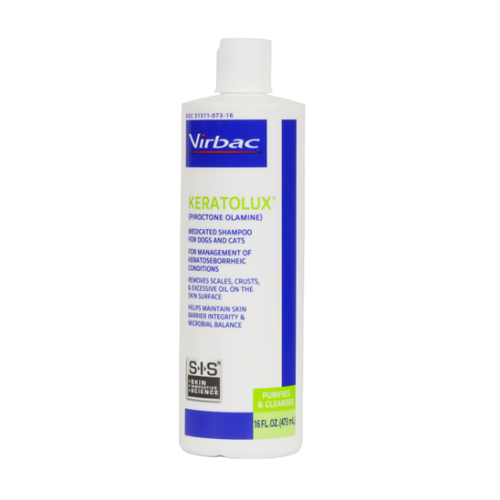 Virbac Keratolux Shampoo for Dogs & Cats (16 oz)