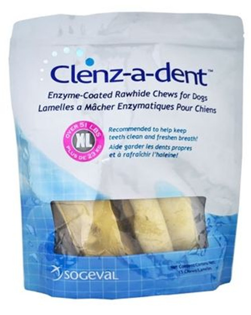 Clenz-A-Dent Rawhide Chews (Extra Large Dog)