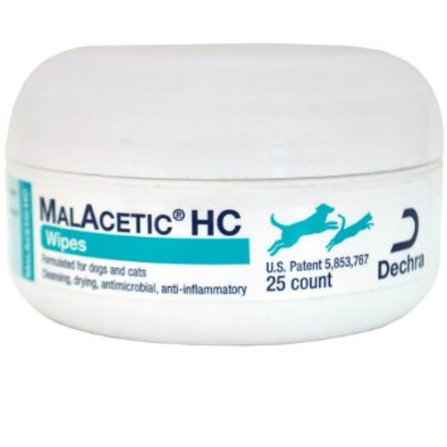 Malacetic HC Wipes with Hydrocortisone (25 count)