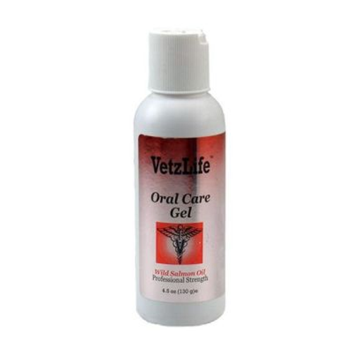 VetzLife Oral Care Gel for Dogs & Cats (Wild Salmon, 4.5oz)