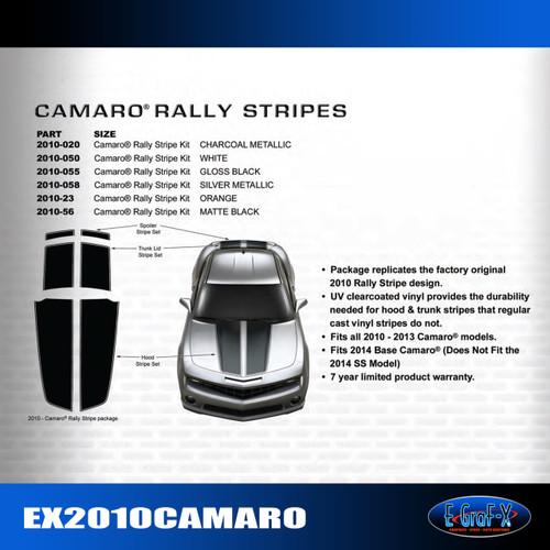 2010-2014 Chevy Camaro Rally Stripes