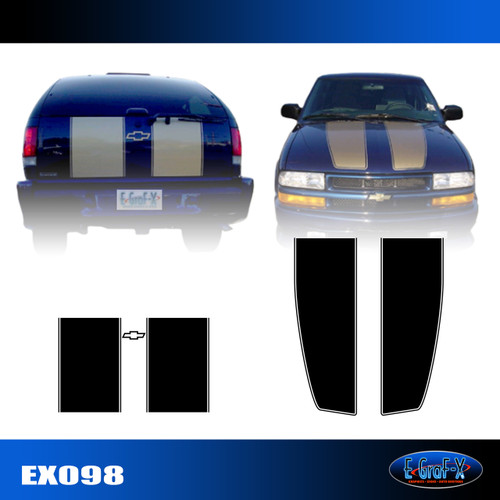 098 Extreme Racing Stripe Graphic Decal