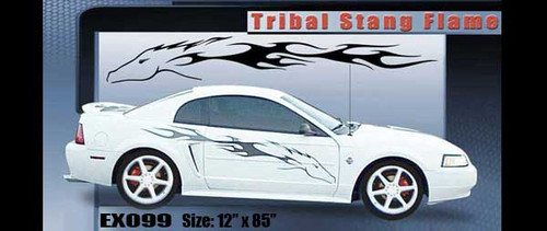 099 Stang Flame Graphic