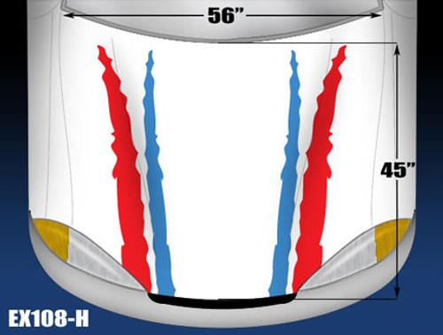 108-H Hood Decal