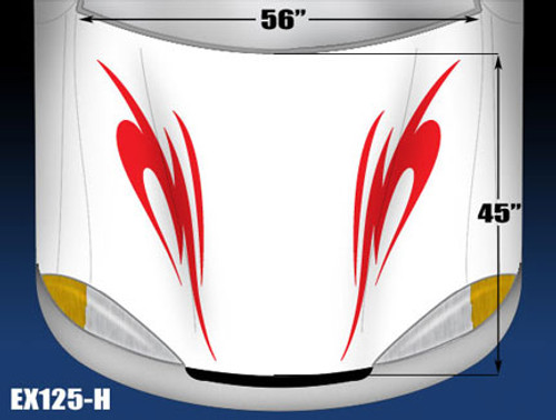 125-H Hood Decal