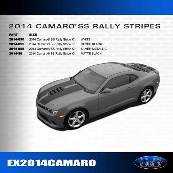 2014-2015 Chevy Camaro SS Rally Stripes