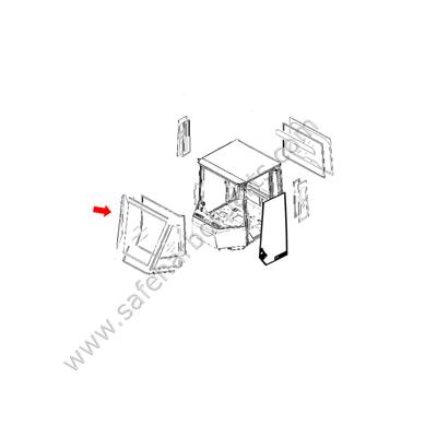 76303230 Wheel Loader Right Hand Opener Glass