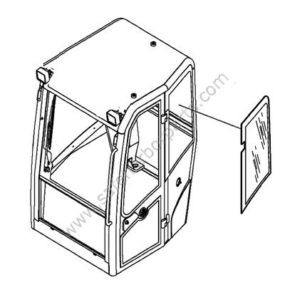 Volvo - Cab Glass - Compact Excavators - Safe Harbor Parts