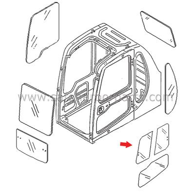 20Y-54-35831 Excavator Door Front Slider