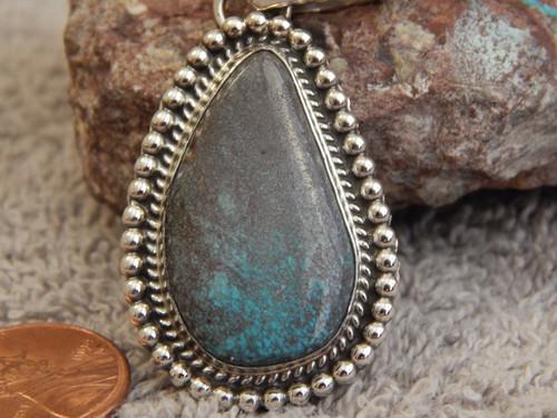 New Rare Smokey Web Bisbee Turquoise Sterling Pendant Navajo Geraldine James