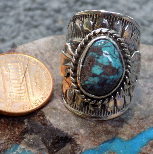 Bisbee Turquoise  SDavidJewelry.com Navajo