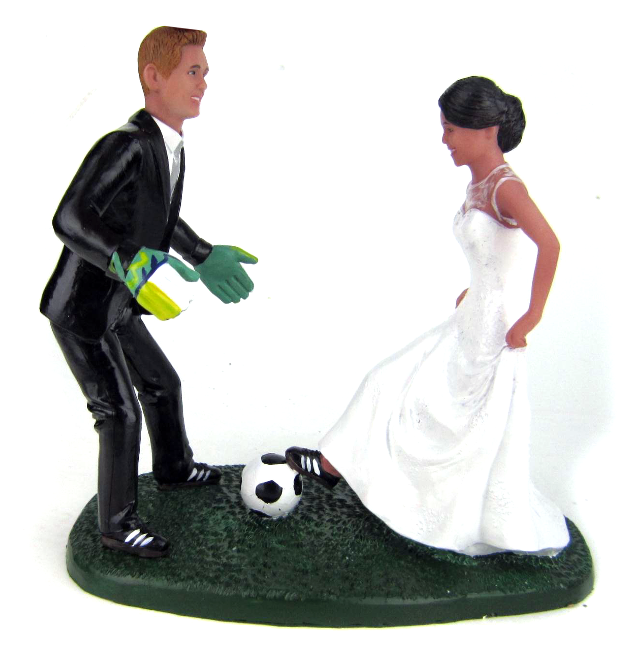 Soccer Wedding Cake Toppers - Custom, Personalized