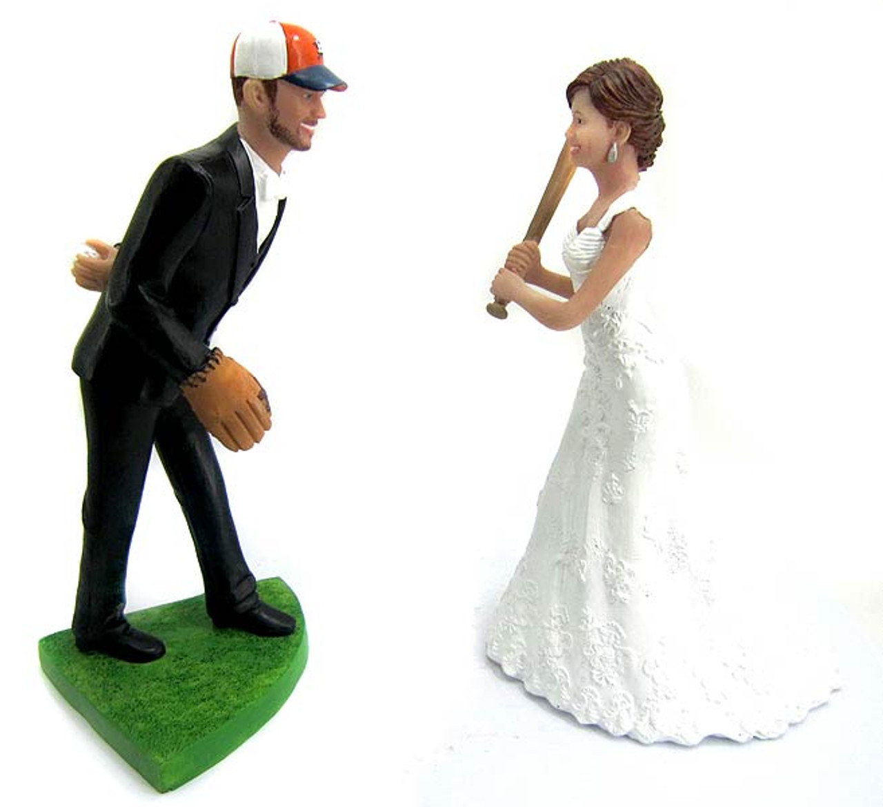 Baseball Wedding Cake Toppers - Custom, Personalized