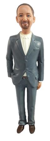 Suit Groom Cake Topper Figurine