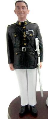 Marine Groom Cake Topper Figurine
