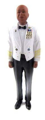 Army Officer Groom Cake Topper Figurine