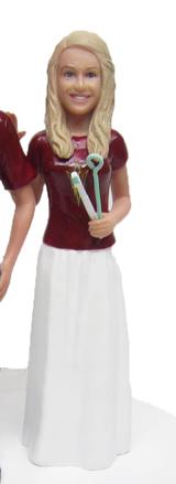Dentist Sports Bride Cake Topper Figurine