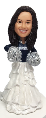 Cheerleader Bride Cake Topper Figurine