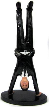 Upside Down Groom Cake Topper Figurine