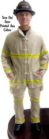 Firefighter Groom Cake Topper Figurine
