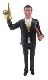 #1 Fan Groom Cake Topper Figurine
