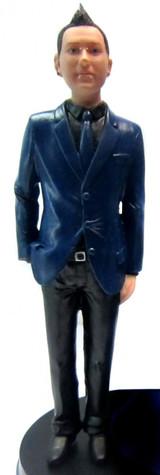 Suit Bride Cake Topper Figurine