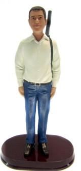 Hunting Groom 2 Cake Topper Figurine