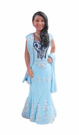Indian Sari Bride 2 Cake Topper Figurine
