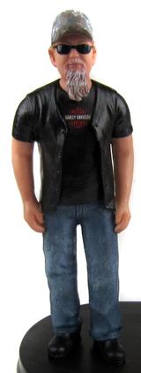 Biker Groom Cake Topper Figurine